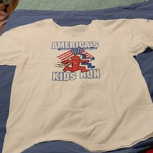 Nike graphic cotton tee armed forced kids run